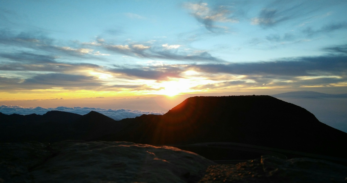 In Maui: Sunrise on Haleakalā