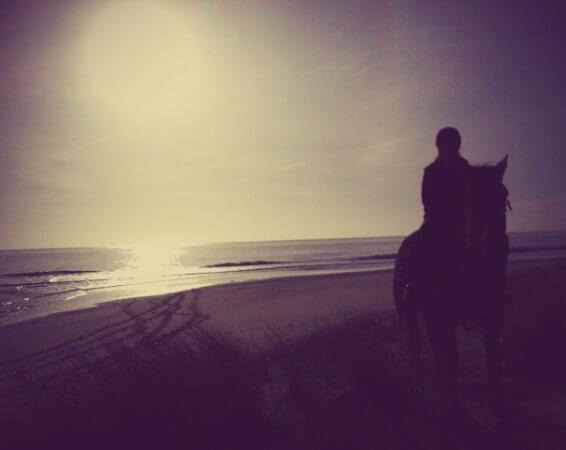 Beach riding in Ireland