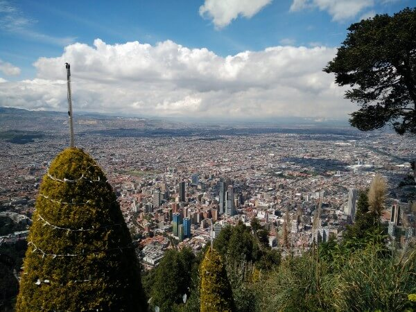 Views over Bogota from Monserrate