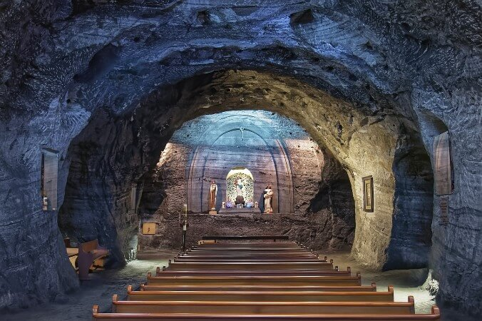 Salt Cathedral of Zipaquira in Colombia