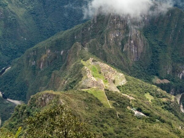 View over Machu Picchu from Machu Mountain
