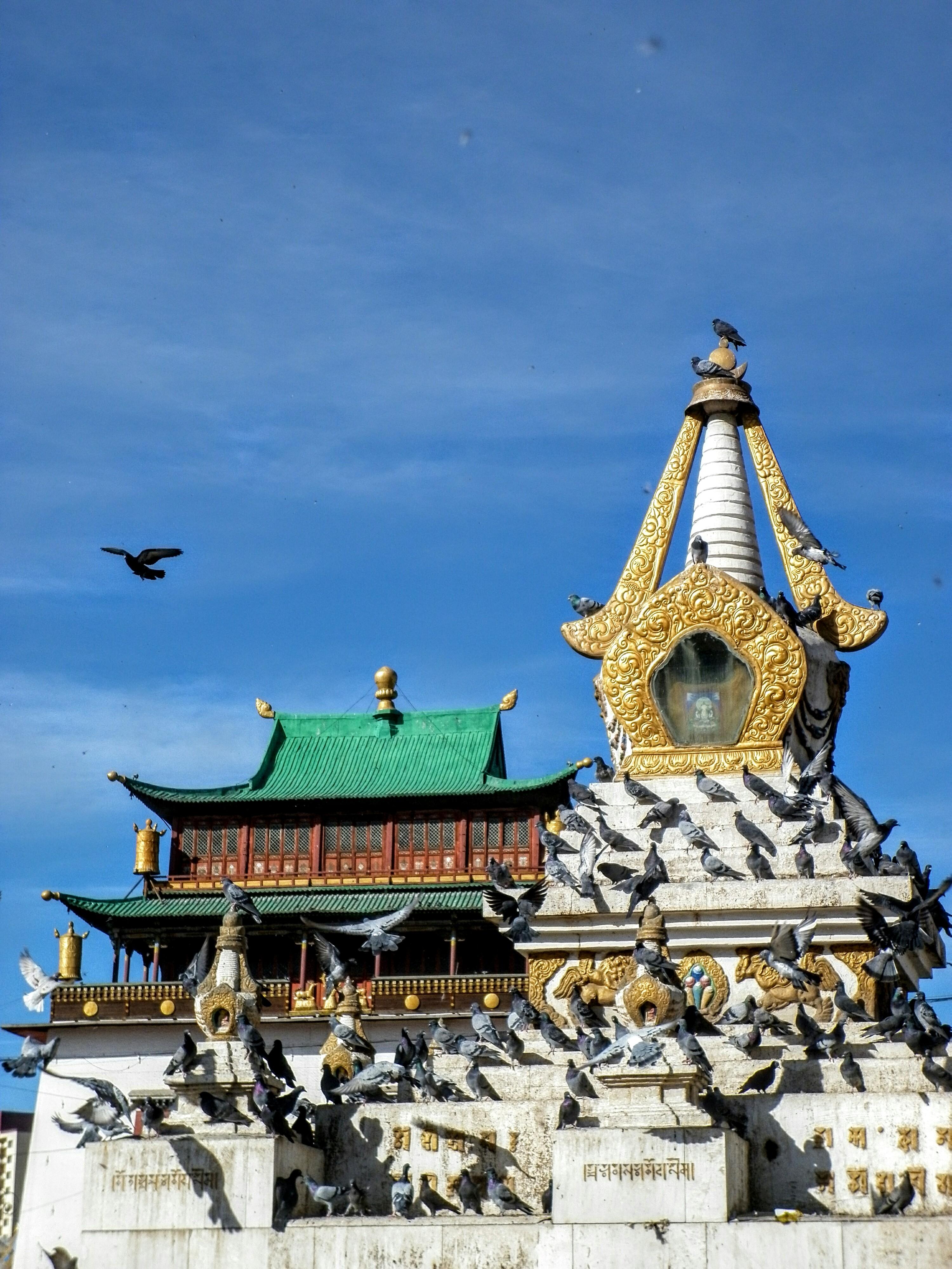 Gandan Khiid Monastery in Ulan Bator, the capital of Mongolia