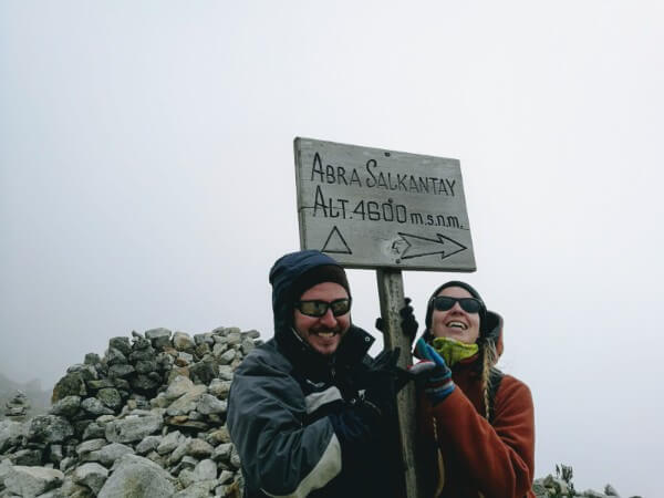 The highest point of Salkantay trek