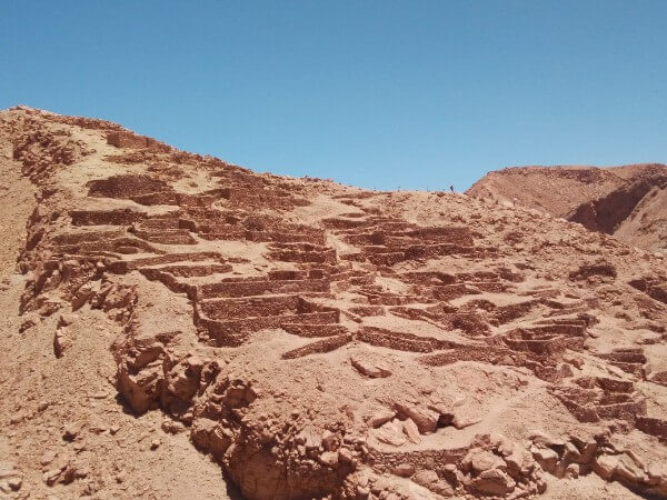 Pukara de Quitor in Atacama desert, Chile