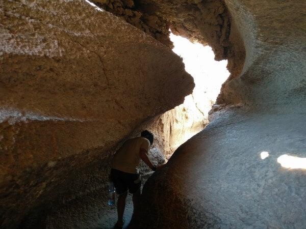 Caverna de sal in Moon Valley