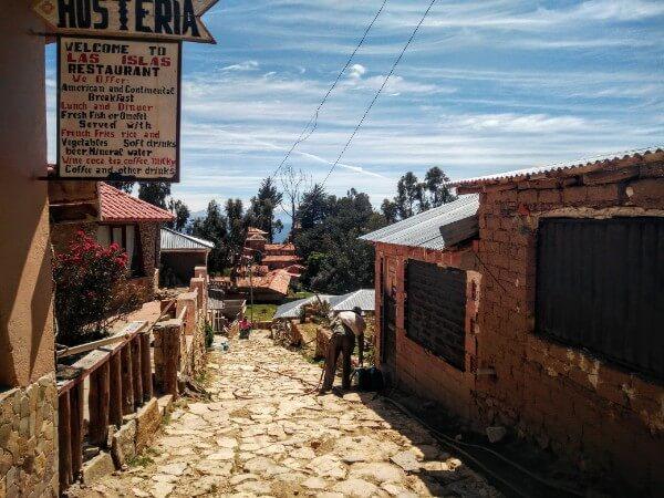 Yumani village in Isla del Sol, Bolivia