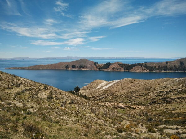 Views over Titicaca lake