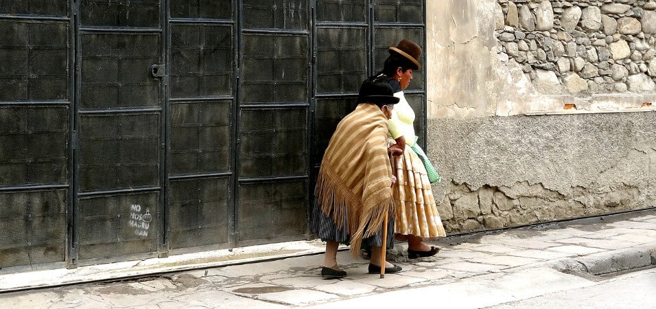 On the streets of La Paz