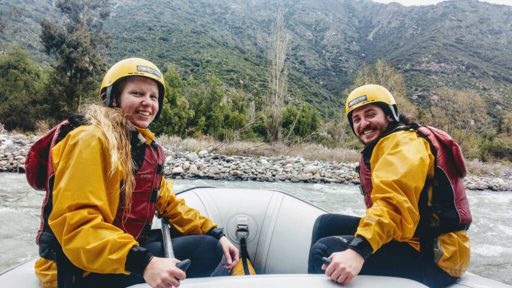 Day trip from Santiago: Rafting in Rio Maipo
