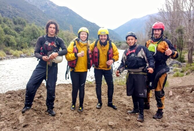 Rafting in Rio Maipo, Chile