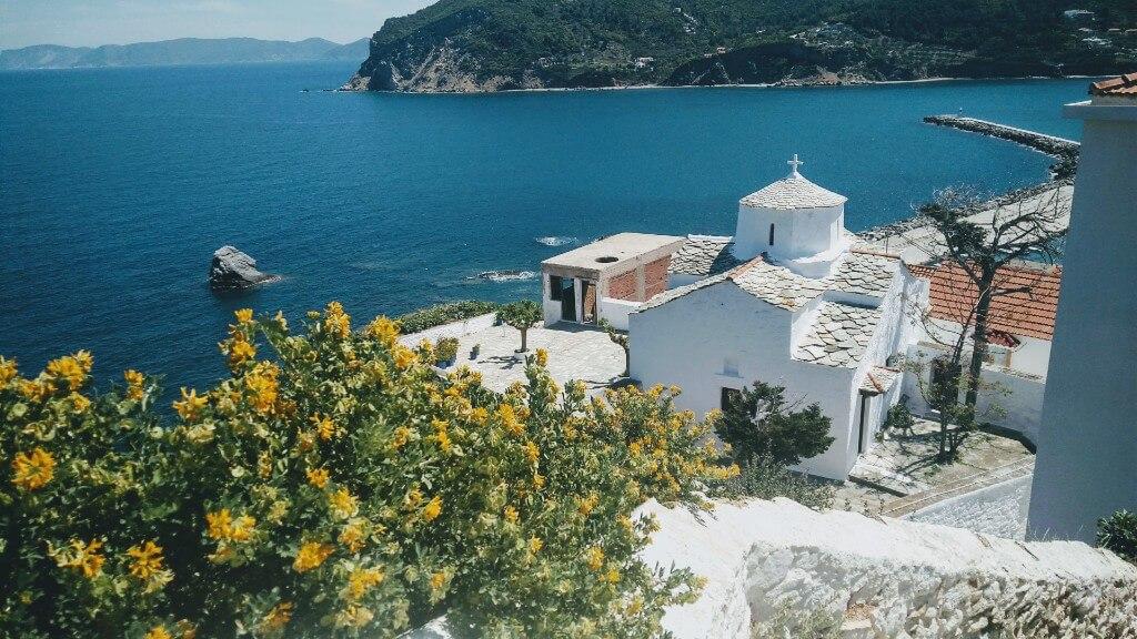 Skopelos town is the capital of Skopelos island