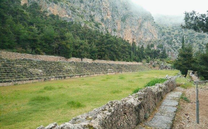 Ancient stadium in Delphi, Greece