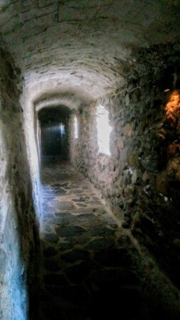 Corridors of a medieval castle of Olaf's castle