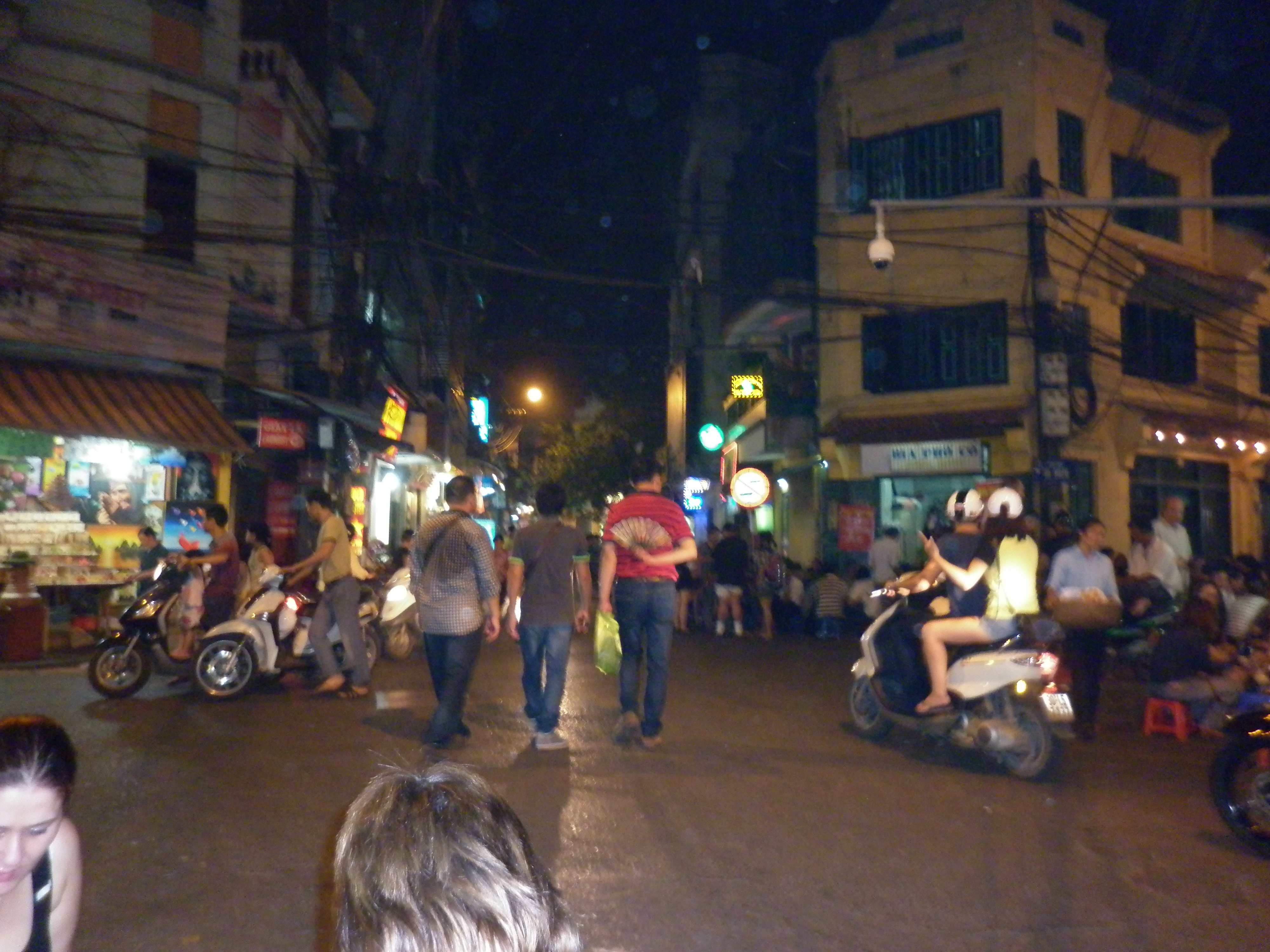 Busy crossroads of the old quarter of Hanoi
