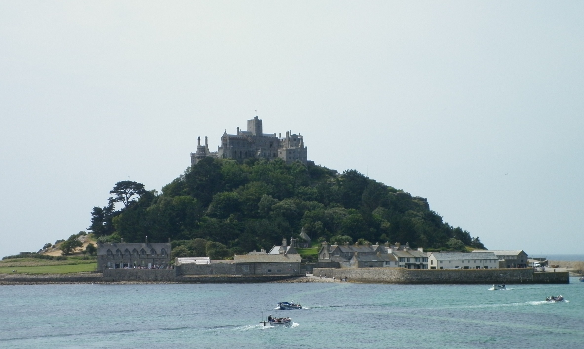 The tidal island of St Michael's Mount