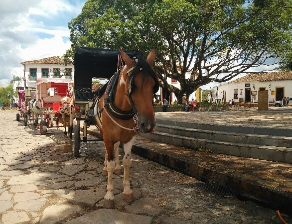 Horse carriage in Tiradentes