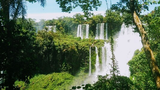 Iguazu Falls in South America