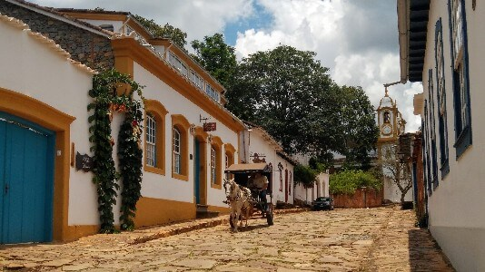 Tiradentes colonial town in Brazil