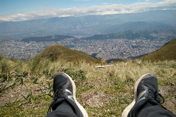 Cruz Loma viewpoint in Quito