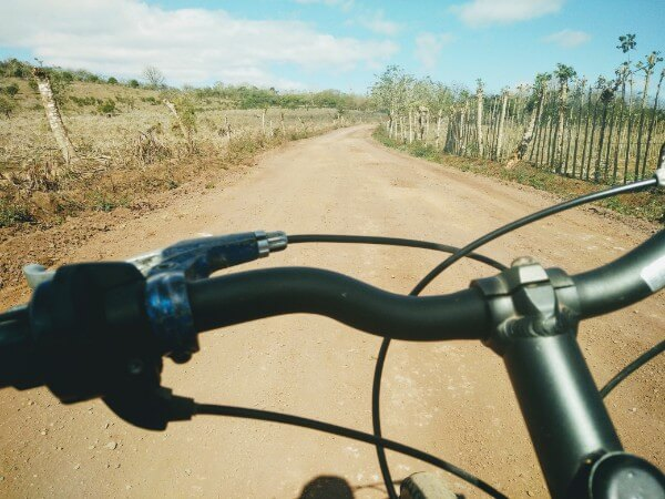 Cycling in Santa Cruz, Galapagos