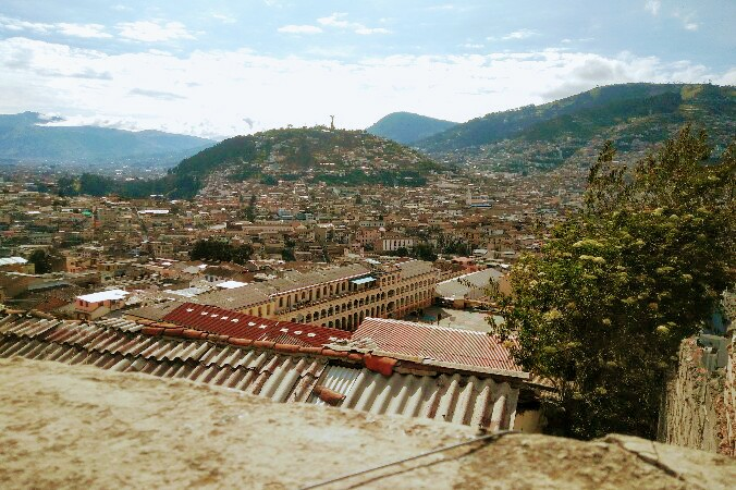 Views over Quito old town and Panecillo hill